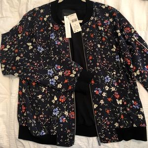 Sanctuary floral bomber jacket (medium)